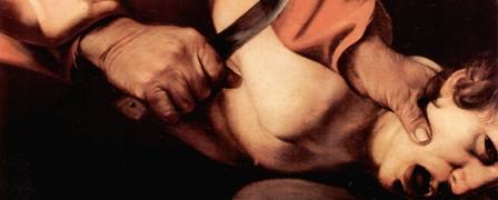 Abraham prepares to sacrificie Isaac, Caravaggio