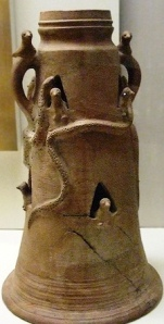 Bad Bible Men: Offering vase covered in snakes, from the ancient Canaanite city of Beth-Shean in northern Israel
