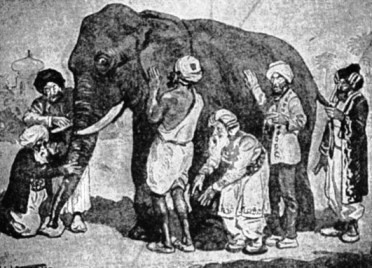 Belief in God, Meditation: the blind men and the elephant
