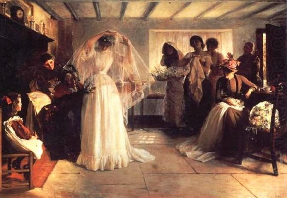 Book of Ecclesiastes: Bride on her wedding day, painting