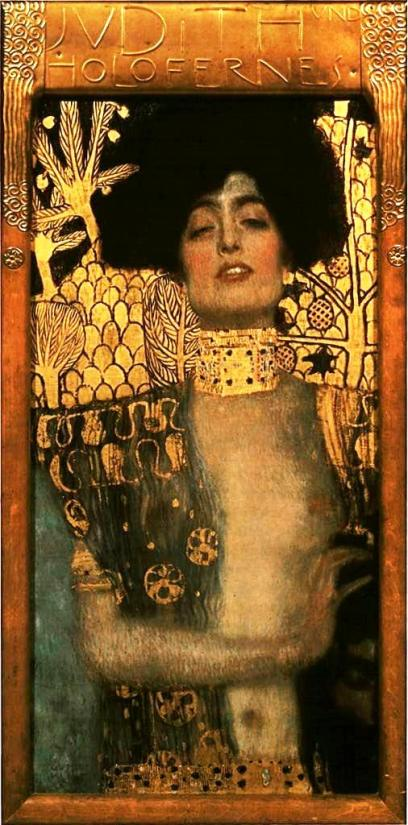 Bible Book of Judith. 'Judith' by Gustav Klimt. Klimt's Judith looks alarmingly like a 19th century European 'grande horizontale'