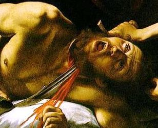 Bible Book of Judith. Holofernes beheaded, Caravaggio