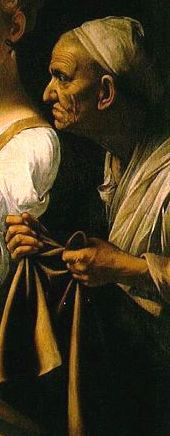 Detail from Caravaggio's 'Judith and Holofernes'