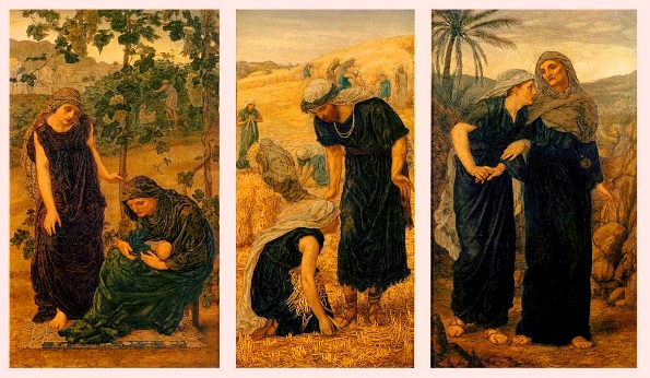 Ruth and Naomi in Bible Paintings: Ruth, Naomi and Obed, Thomas Matthews Rooke, Bible Art Gallery: paintings from the Old and New Testaments