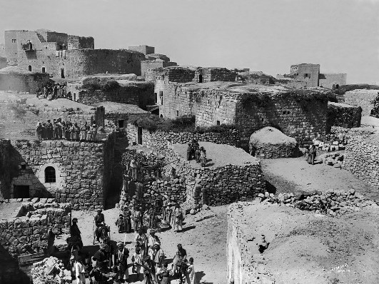 Nazareth at the time of Jesus may have looked something like this 19th century photograph of a Middle Eastern village
