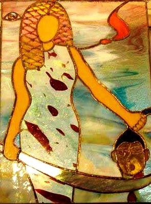 'Judith', stained glass window, Diane Goodpasture