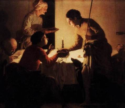 Esau Sells his Birthright, painting by Hendrick ter Brugghen