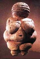 Ancient statue of a woman, called the Venus of Willendorf