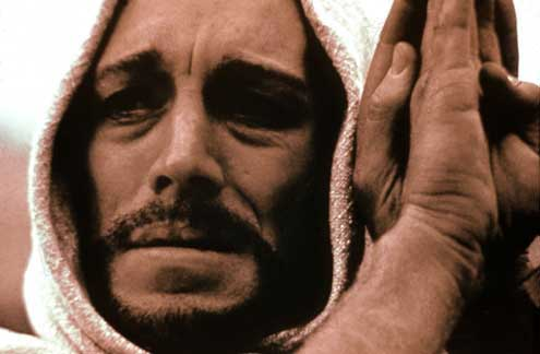 Bible movies, films. The anguished face of Christ in 'The Greatest Story Ever Told'