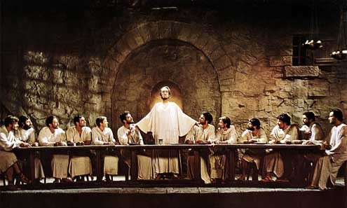 Bible movies, films. The Last Supper in 'The Greatest Story Ever Told'