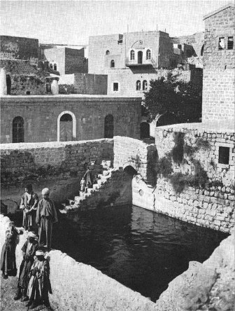 The Upper Pool of David in Hebron, where David exhibited the bodies of the two men who had killed Ishbosheth, 1937 photograph