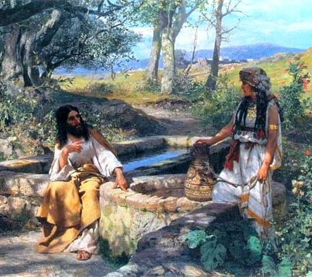 Jesus and the Woman of Samaria, painting by Henryk Siemiradzki. The Samaritan woman, the woman at the well