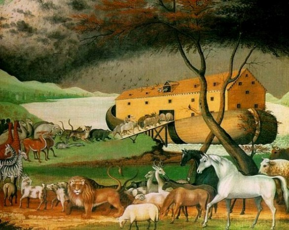 The Animals enter the Ark, Edward Hicks