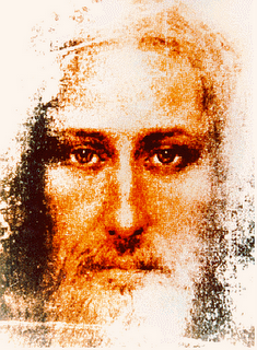 Artist's impression of the face of Jesus