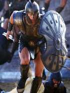 'Achilles' movie. Sophisticated Greek armour; Israelite warriors susually depended on surprise and strategy to win battles