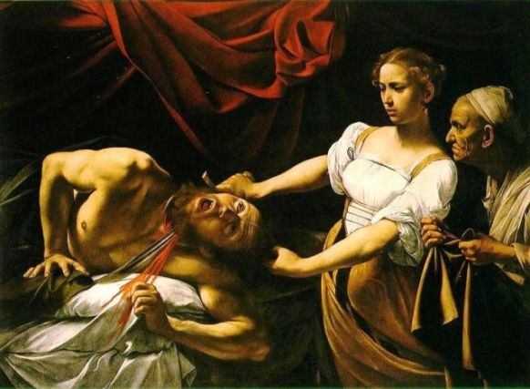 Bible Book of Judith. Judith and Holofernes, Caravaggio