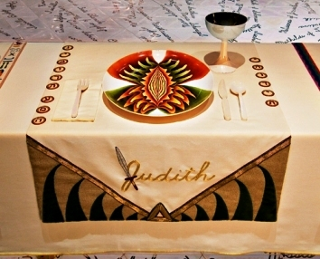 The Judith Table, from Judy Chicago's The Dinner Party
