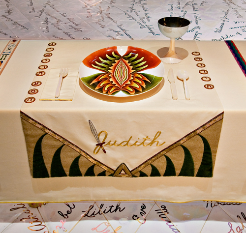 Bible Book of Judith. Judy Chicago, The Dinner Party: Judith