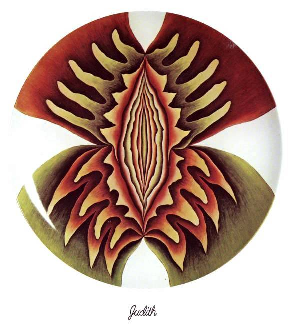 The 'Judith' plate, from The Dinner Party by Judy Chicago