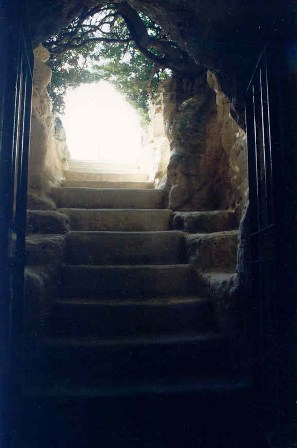 Entrance to an ancient tomb