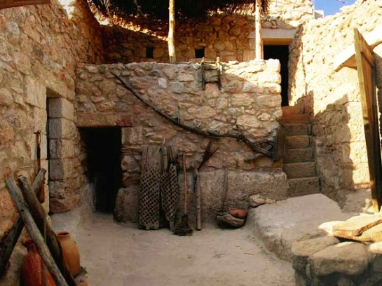 Reconstruction of a middle-sized house in 1st centuryAD Nazareth