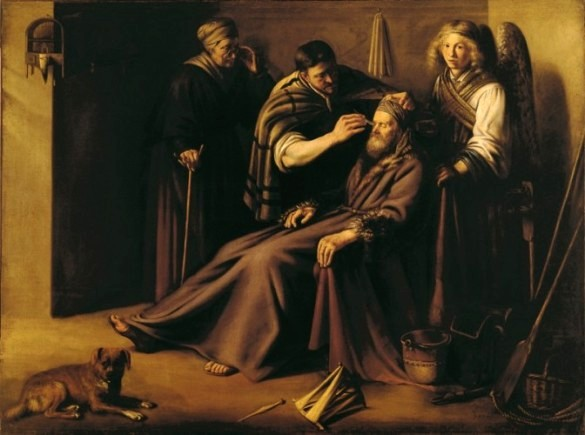 Book of Tobit: healing Tobias, Paulus Lesire
