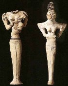 Figurines excavated at Ur, original home of Abraham and Sarah; the terephim may have looked something like this
