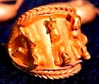 A gold ring unearthed by archaeologists near the site of the ancient city of Armageddon