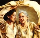 Ruth and Naomi, painting by Sandy Freckleton Gagon, detail of a larger picture
