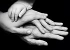 Hands belonging to four different generations