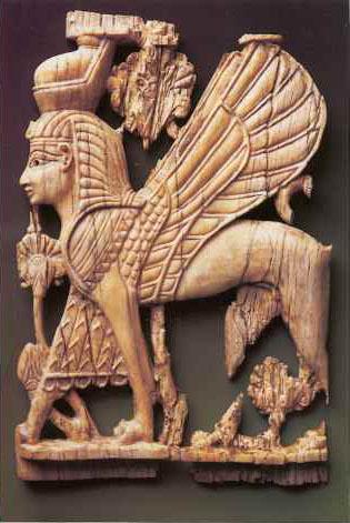 Ivory carving of a cherub, Samaria