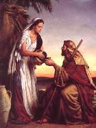 What was the nationality of the woman at the well