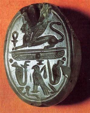 An ancient seal, said to have been the seal of Jezebel