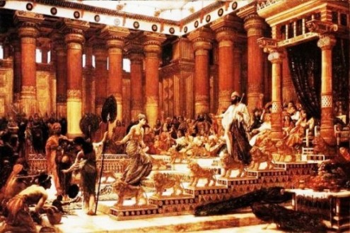 Painting, Visit of the Queen of Sheba, Edward Poynter