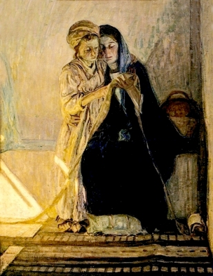 Meditation for Parents: The boy Jesus taught the Scriptures by his mother Mary, Henry Ossawa Tanner