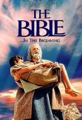 Bible movies, films. Abraham and his son Isaac in 'The Bible'