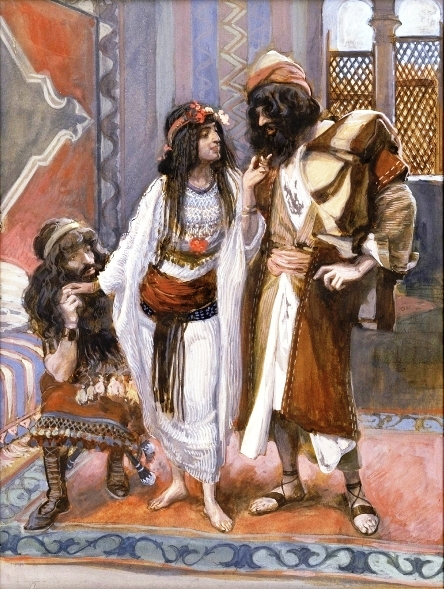The Harlot of Jericho and the two spies, by James Tissot