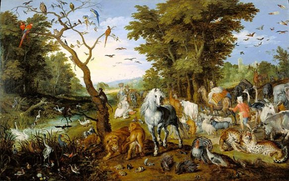 The Animals enter the Ark, Jan Brueghel the Elder, painting