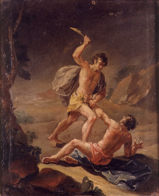 Cain Kills Abel, artist unknown