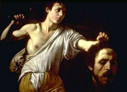 Young People in the Bible: David. David with the head of Goliath, Caravaggio.