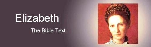 Elizabeth's story - the gospel text