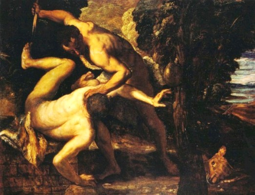 Paintings of Cain and Abel: Cain and Abel, Tintoretto