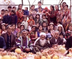 Photograph of an extended Middle Eastern family