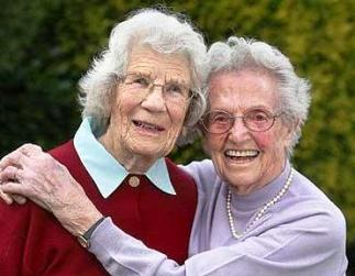 Friendship in the Bible. Two elderly women friends