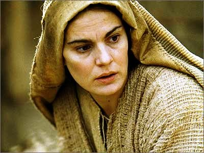 Bible movies, films. Mary, mother of Jesus of Nazareth, in 'The Passion of the Christ'