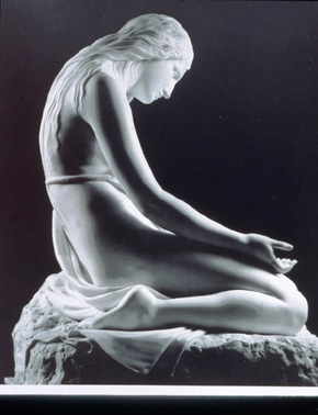 The penitent Magdalene, sculpture by Canova