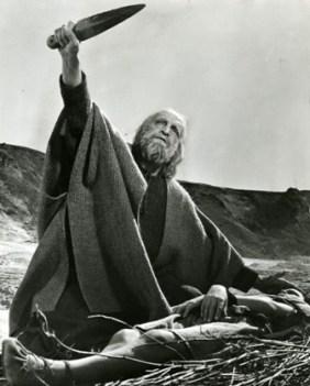 Abraham prepares to sacrifice Sarah's son Isaac