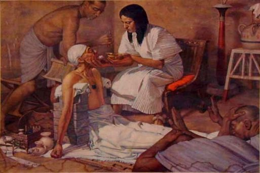 Surgical operation in ancient Egypt, reconstruction