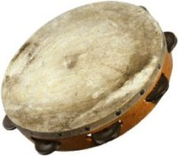 A well-used tambourine