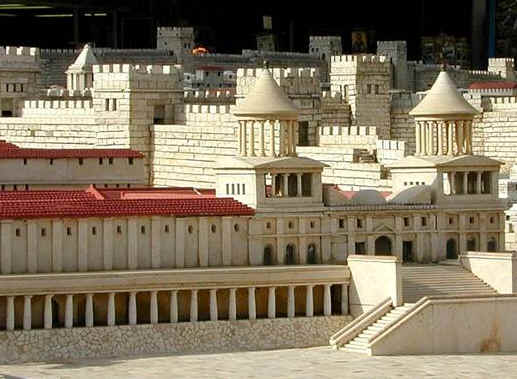 Bad gospel men: Reconstruction of the royal Palace where Herod Antipas lived when he was in Jerusalem.